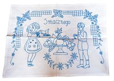 Hand embroidery on polish traditional tapestry used in kitchen. Traditional Tapestries, Polish Folk Art, Poland, Hand Embroidery, Punch, Tapestry, Culture, Pop, Lace