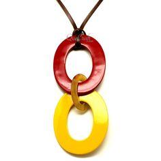 QueCraft Horn & Lacquer Pendant - Q12203