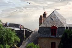 Mont-Saint-Michel. A view from the ramparts \\ Lower Normandy. France