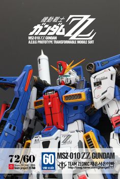 1/60 MSZ-010 ZZ Gundam - Painted Build     Modeled by jjhangel777