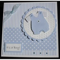 Handmade baby card, Cute little romper suit £2.50 + £1 pp
