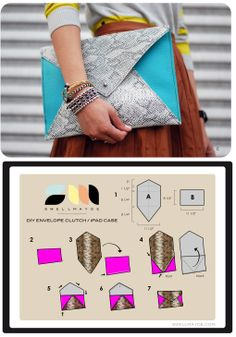 Make an iPad case /clutch-these make great holiday gifts!