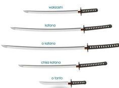 Katana Sword Reference: Top Image Row Left, Right Row (Source: Unknown) Row Left, Right Bottom Image