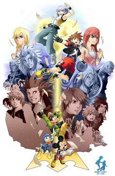 Kingdom Hearts 10th Anniversary Tribute by Kanokawa