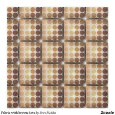 Fabric with brown dots
