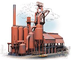 Beam Structure, Industry Models, Engine House, Steel Mill, Ho Scale Trains, N Scale, Model Trains, Planer, Beams