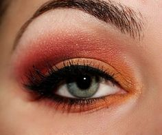 Tangerine orange eye makeup ^.^