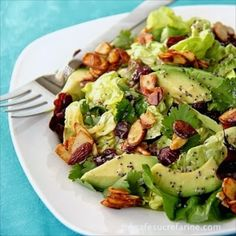 Cranberry-Avocado Salad with Sweet White Balsamic Vinaigrette