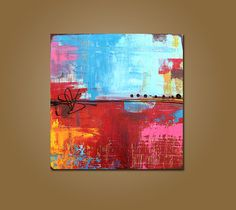 urban - 24 x 24, original modern contemporary rustic urban acrylic PAINTING canvas, abstract art by Shanna on Etsy, $196.00