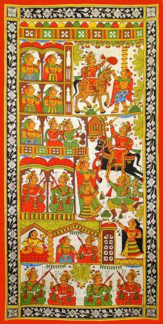 Kalyan Joshi - Ganesha Durbar @ Phad Chitra : Soul of Rajasthan Phad Painting, Mural Painting, Fine Arts College, Asian Art Museum, Madhubani Art, Indian Folk Art, Indian Art Paintings, India Art, Popular Art