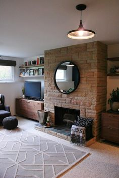 fireplace height = cabinet height