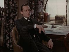 "Jeremy Brett as Sherlock Holmes in the episode ""The Second Stain"" from the Granada series---one of my favorite of the series. Love it when he ""snorts"" when the document isn't under the floor board. Jeremy Brett Sherlock Holmes, Sherlock Series, Adventures Of Sherlock Holmes, Sherlock Holmes Elementary, David Burke, Fear Of Women, Dr Watson, Peter Gabriel, 221b Baker Street"