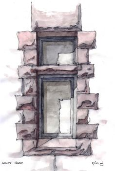 https://flic.kr/p/86BVRG | Adams Window | Study of a window in the Romanesque Revival Adams house in Park Slope, Brooklyn. The cast shadow in the deep window opening caught my eye.