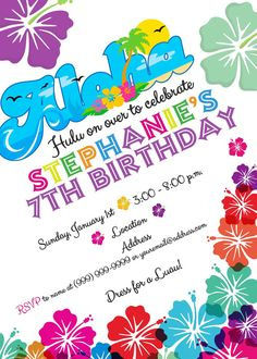 Aloha Luau Invite