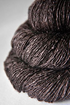 Boiling Cacao - Tussah Silk Yarn Lace weight. €26,50, via Etsy.