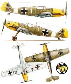 Messerschmitt Bf 109E7Trop 1.JG27 White 1 Wolfgang Redlich Libya 1941.Kagero top colors