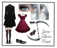 """""""Jane (Reaper) - Black Butler OC"""" by ava71201 ❤ liked on Polyvore featuring Givenchy and Demonia"""