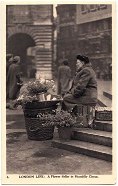Charles Skilton's London Life 1950: Flower Seller in Piccadilly Circus
