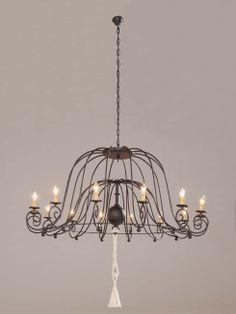 Lámpara Al-andalus 14 luces, se puede cambiar el color de la forja.