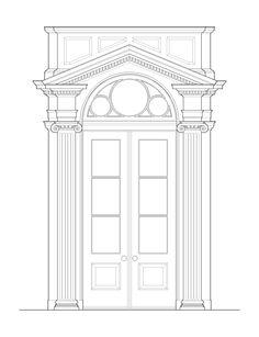 A design for an exterior doorway.  For more, visit www.shueda.com