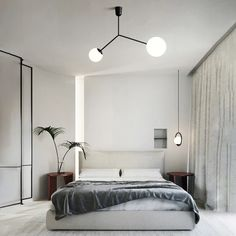 Minimalist Apartment, Minimalist Room, Minimalist Home Interior, Minimalist Design, Bedroom Ideas Minimalist, Modern Bedroom Lighting, Modern Bedroom Design, Modern Decor, Modern Furniture