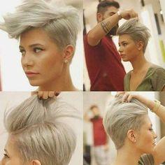Für Frauen, die ihre Haare am liebsten in einer Tolle tragen! 10 wunderschöne Kurzhaarschnitte zur Inspiration! - Neue Frisur