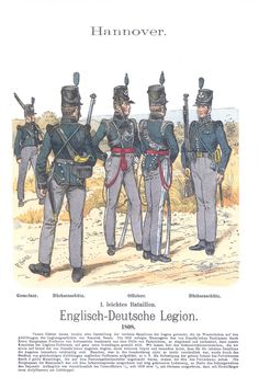 Napoleonic Military Paintings/Sketches/Uniform Plates - page 7 - Historical Discussion - Flying Squirrel Entertainment British Army Uniform, British Uniforms, German Uniforms, Military Uniforms, American Soldiers, American Civil War, Empire, Bataille De Waterloo, Waterloo 1815