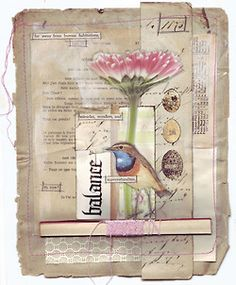 journal page collage