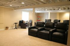 Convert #basement into the #Home #Theatre....!!!!  Basement remodeling ideas #Chicago