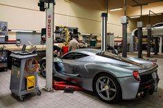 Ferrari Laferrari in garage
