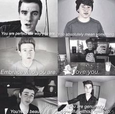 JC Caylen Sam Pottorff Kian Lawley Connor Franta Ricky Dillon Trevor Moran Our Second Life O2l Quotes, Qoutes, Youtube Quotes, Youtube Vines, Trevor Moran, Bae, Ricky Dillon, Rick Y, Kian Lawley