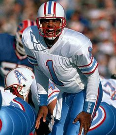 Warren Moon #1 (QB) - Completed 3,988 of 6,823 passes for 49,325 yards and 291 touchdowns in 17 NFL seasons.