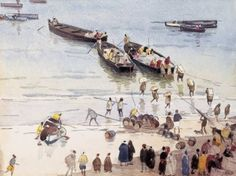 Edouard DOIGNEAU_Embarquement de marchandises dans le port de Tanger 1901