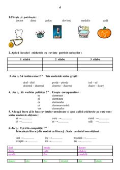 6654510 fise-limba-romana-clasa-i Math For Kids, Crafts For Kids, Printed Pages, School Lessons, Kids Education, Teaching English, Christmas Crafts, Study, Child