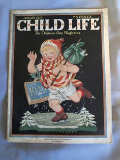 Child Life Magazine January 1929 Christmas New Years Cover Pixies Paper Dolls | eBay