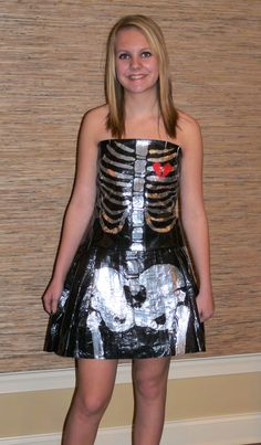 Duct Tape skeleton dress...love this!