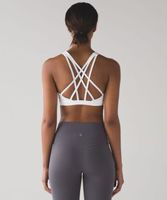 lululemon Womens Free To Be Serene Sports Bra, White, Size 14 Cute Workout Outfits, Cute Outfits, Dance Workout Clothes, Best Yoga Clothes, Workout Clothing, Fitness Clothing, Sport Outfit, Sport Wear, Sports Bra Outfit