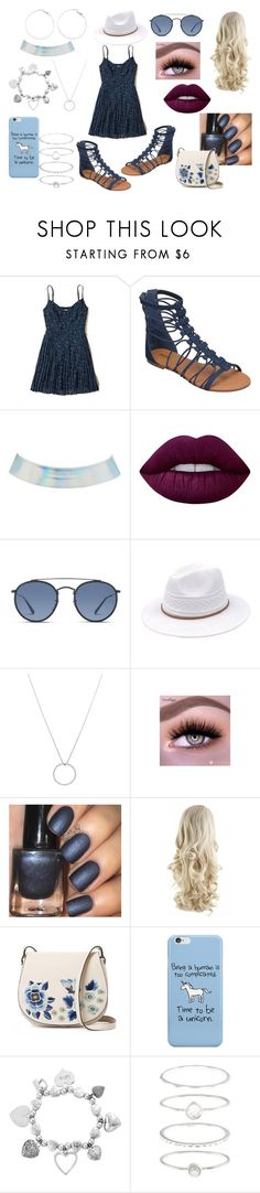 """""""First Date: Summer Park Ice-Cream"""" by roxy-crushlings ❤ liked on Polyvore featuring Hollister Co., Soda, Charlotte Russe, Lime Crime, Ray-Ban, Roberto Coin, French Connection, ChloBo and Accessorize"""