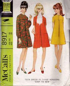 16 Ideas Dress Pattern Vintage Fashion Dolls For 2019 1960s Outfits, Vintage Dresses 1960s, Vintage Dress Patterns, Vintage Outfits, Vintage Glam, Vintage Clothing, Retro Fashion, Vintage Fashion, Trendy Fashion