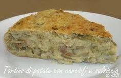 ITALIANS DO EAT BETTER: TORTINO DI PATATE CON CARCIOFI E SALSICCIA