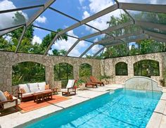 Essentially Indoor Pool, Replace Roof With Real Roof With Many Skylights