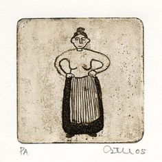gravura de Estela Baptista Costa
