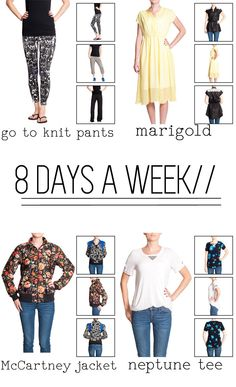 8 Days a Week Collection from Pattern Anthology! Such great pieces in this collection! Can't wait to make some! #patternanthology