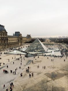 The Pyramid at the Louvre - trust the French to build such a contrasting structure and have it fit in beautifully