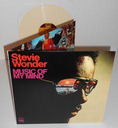 STEVIE WONDER music of my mind Lp Record CREAM COLORED Vinyl gatefold funk soul #FUNK