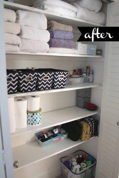 Beautifully Organized: Linen Closets