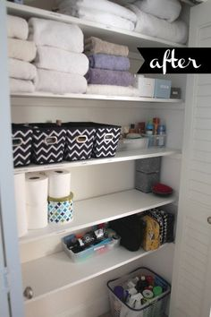 Beautifully Organized: Linen Closets