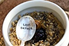 I absolutely love oatmeal