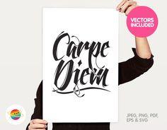Printable Carpe Diem vector clipart personal & by ColorPlanet