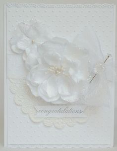 White Congratulations Card by @Anabelle O'Malley